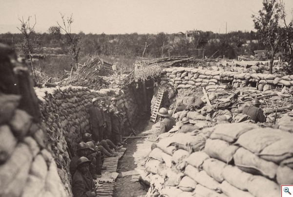 WWI Fifth Battle of the Isonzo Italian lines